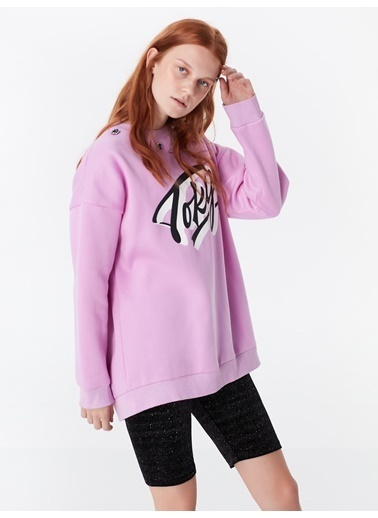 Twist Sweatshirt Lila